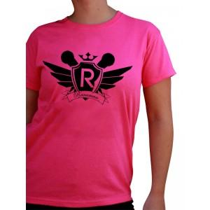 Camiseta Rosa Mujer MICROFONOS